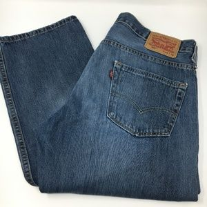 Levi's 569 Mens relaxed straight blue jeans 34x31